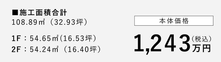 本体価格1,243万円(税込)
