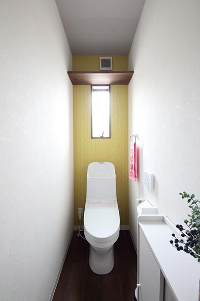 2階は黄色のクロスでポップな雰囲気に。