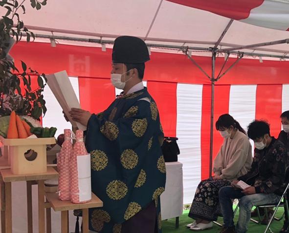 お家づくり始まります!~姫路市にて地鎮祭でした~